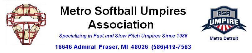 Metro Softball Umpires Association